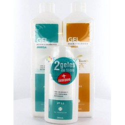 INIBSA Pack Gel Con Colágeno 100mlL + Gel Multicereales 1000ml + Gel Colágeno 200ml Gratis