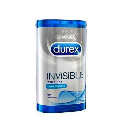 Durex Invisible Extra Sensitivo12 Uds