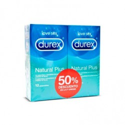 Durex Natural Plus Duplo 2x12 Uds