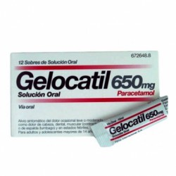 Gelocatil 650 mg Solución Oral 12 Sobres